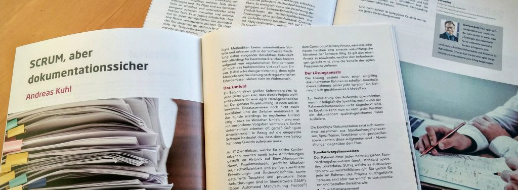 "Fachartikel ""SCRUM, aber dokumentationssicher"" im Sybit Agile Magazin"
